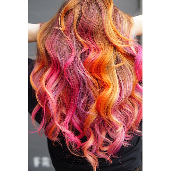 Neon Sunset Formula + Creative Color Tips - Behindthechair.com