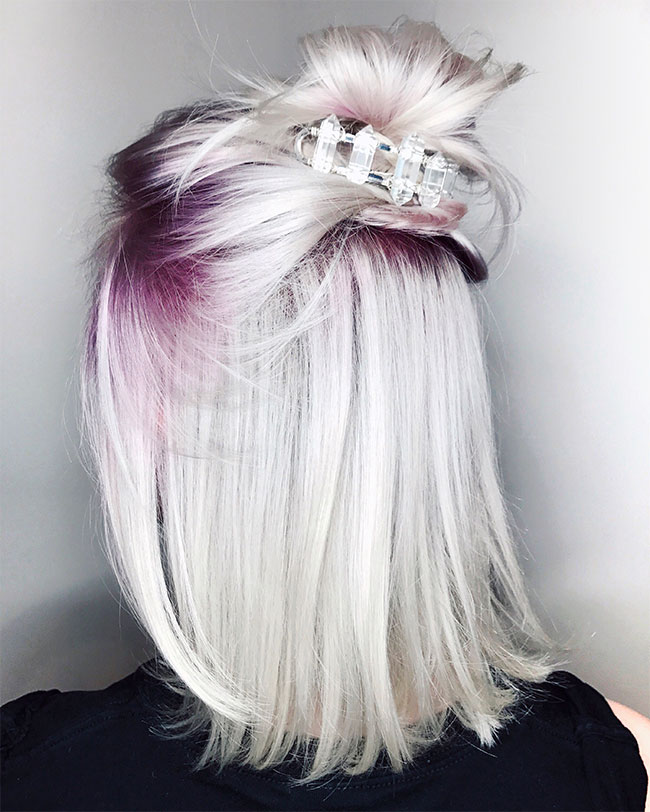Purple shadow root by Chris Weber Hair