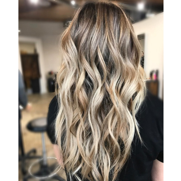 blended balayage and babylights hairstyle