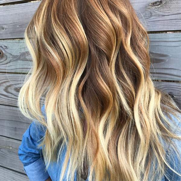 babylights balayage hairstyle finished look Liz Haven
