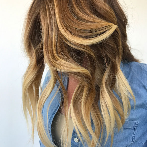 babylights balayage finished look by Liz Haven
