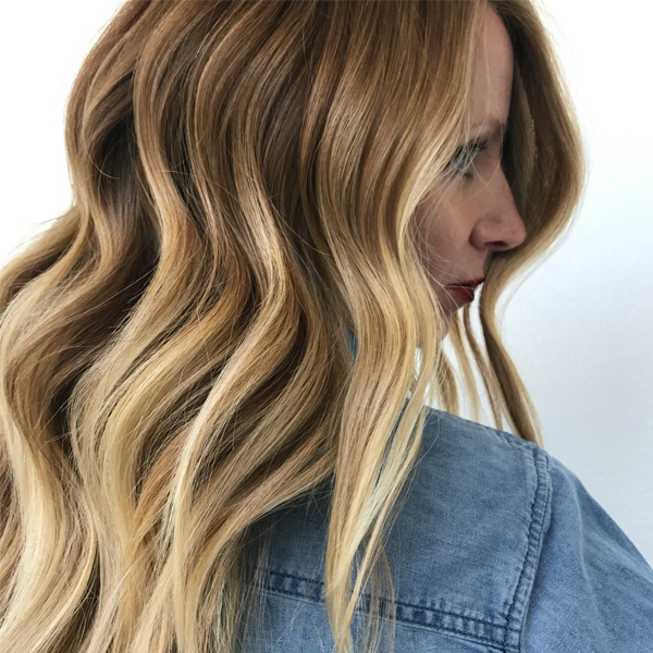 babylights balayage blend finished look by Liz Haven