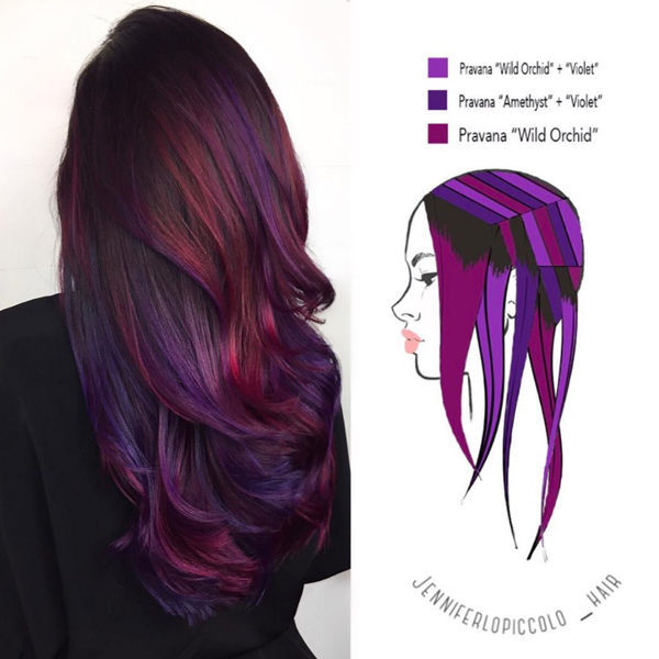 6 hair painting diagrams