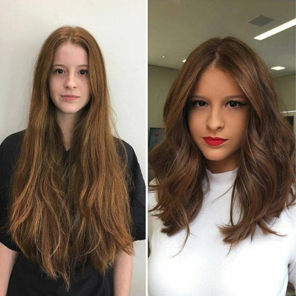 mid-length haircut transformation with volume by @marcelocammpos