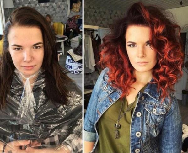 red hair color transformation by @studiomarteena