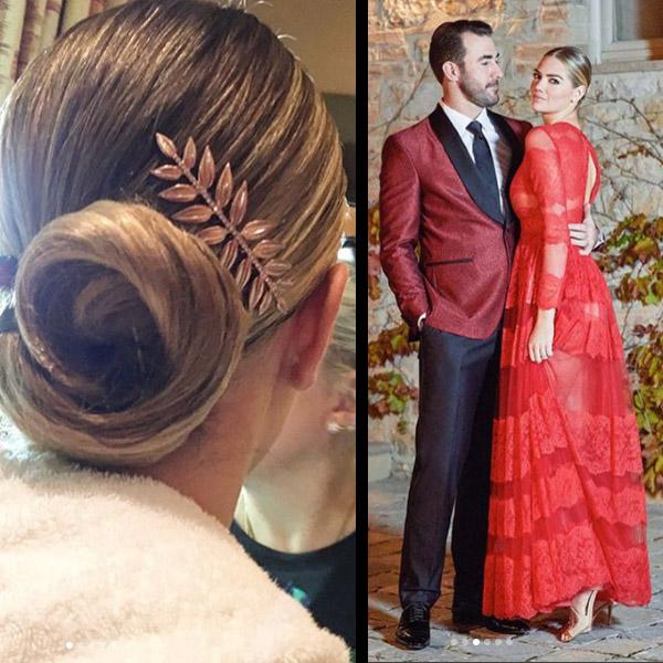 Kate Upton Wedding: Swirled Bun + Accent Clip—Recreate Kate Upton's Dinner