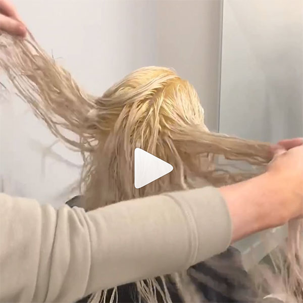 zach mesquit creating a shadow root on platinum hair