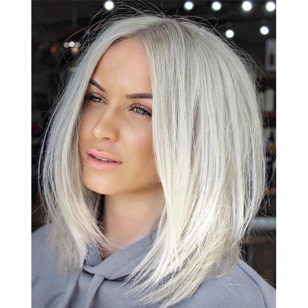 platinum blonde haircolor