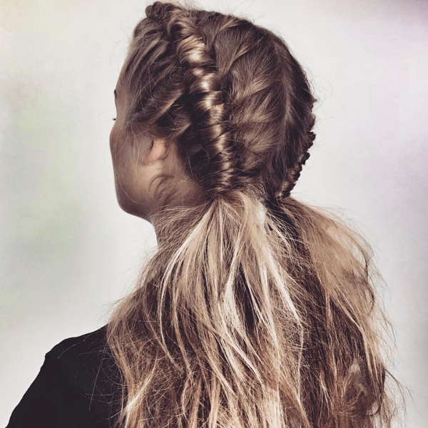 Nicci Welsh festival hair pipe braid trend technique styling video how-to quickie