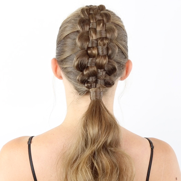 Moroccanoil How To Zipper Braid + Ponytail Technique