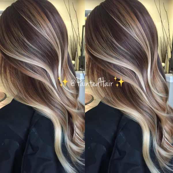 Blonde Balayage On Level 6 Brunette Base Color Formulas