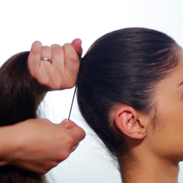 Sleek + Glam Ponytail How-To Step 2