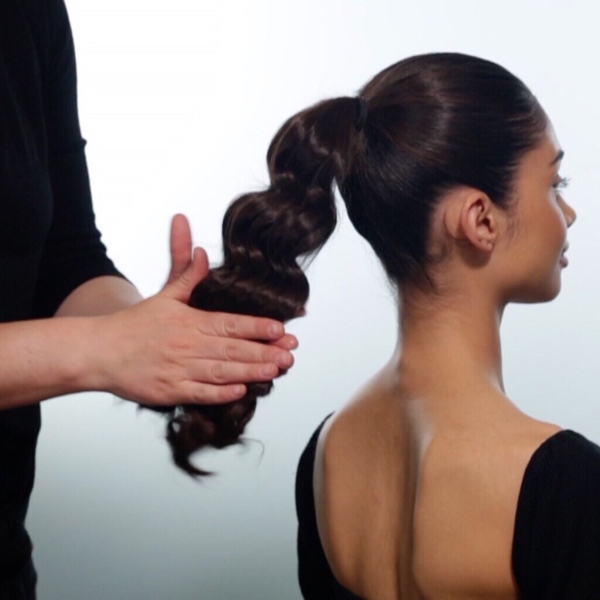Sleek + Glam Ponytail How-To Step 6
