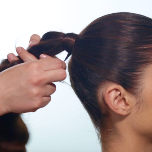 Sleek + Glam Ponytail How-To Step 7
