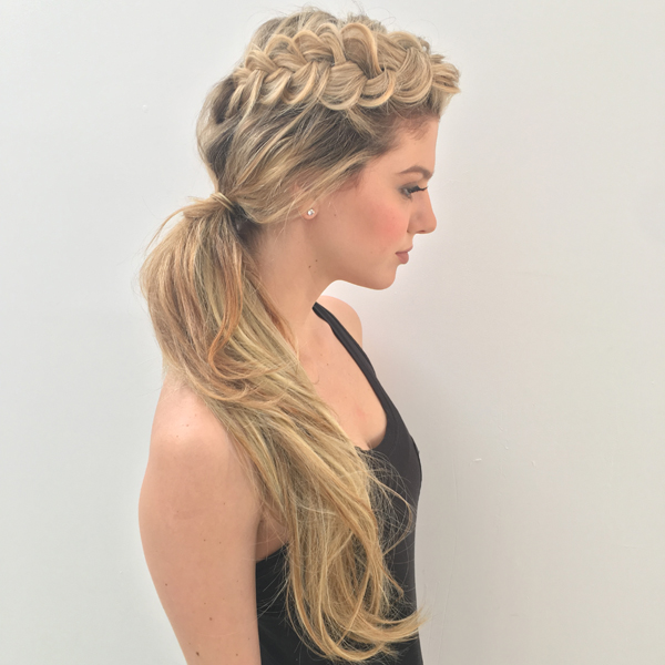 Watch + Create This Cool Elevated 3-Strand Braid + Low Ponytail