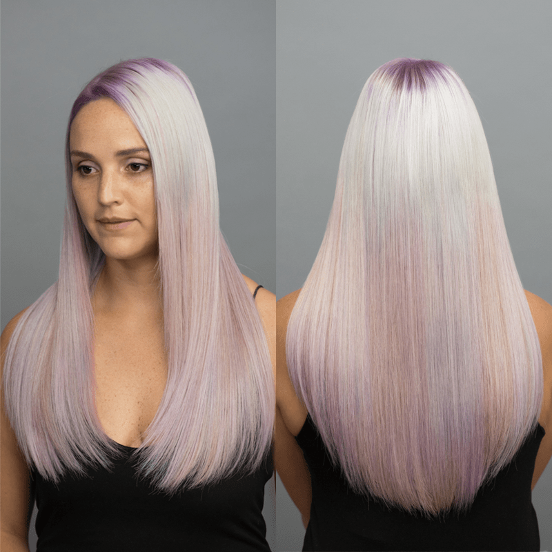 Custom Colored Extensions Tape-In Shadow Root How-To Hairtalk