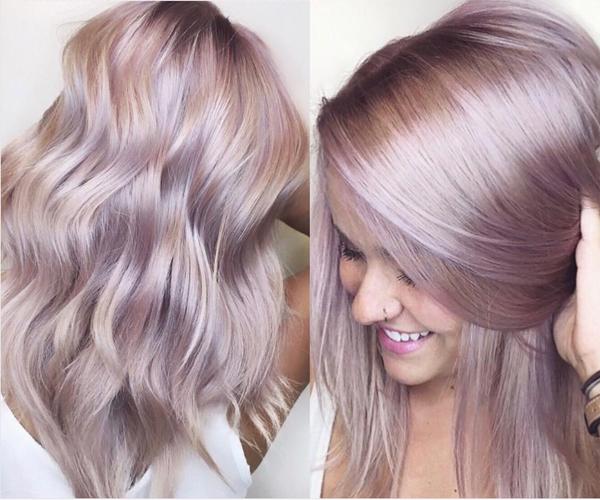 iridescent rose pink metallic haircolor cassiskovic kenra
