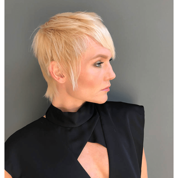 disconnected pixie haircut short hair trend fall video how-to color formulas