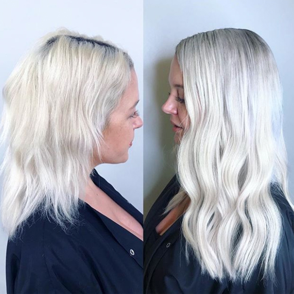 before and after tape-in extensions transformation great lengths extensions