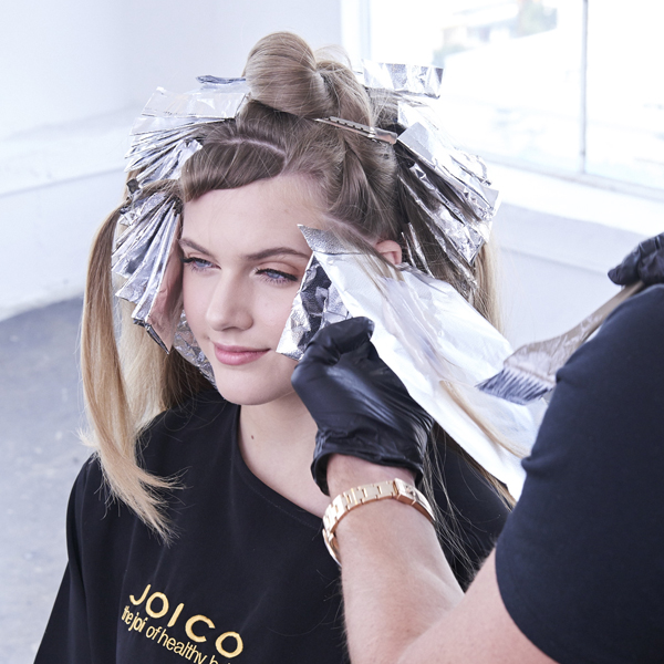 natural blonde shadow root low maintenance cream and sugar blonde joico step by step