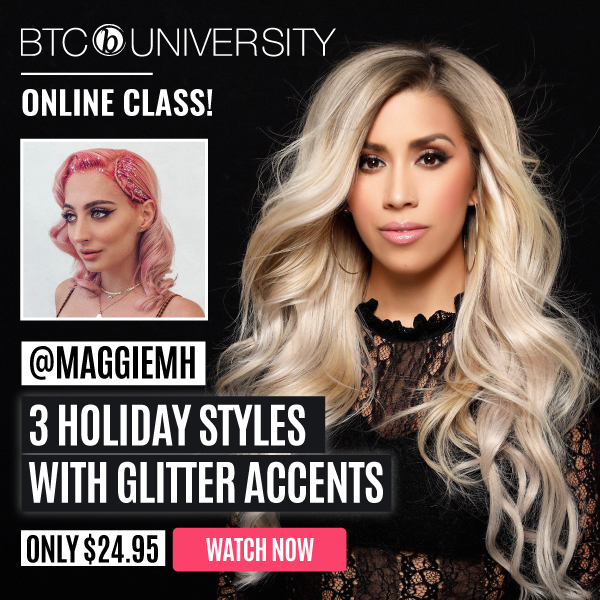3 holiday styles with glitter accents - BTC University Online Class with @maggiemh
