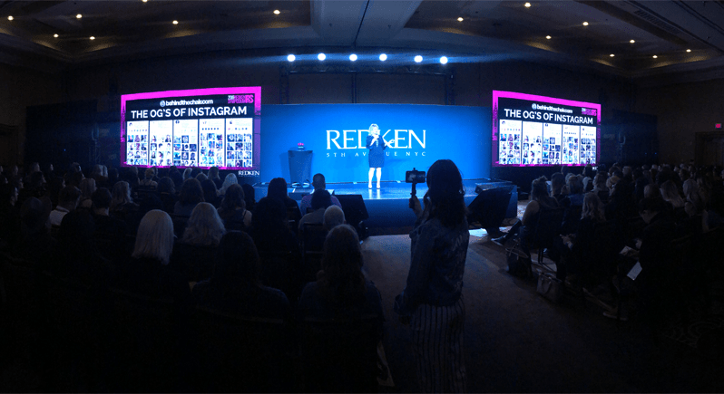 Instagram Business Tips Mary Rector Gable Redken Symposium 2019 Facebook Live
