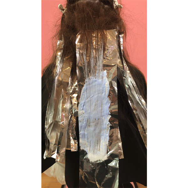 haircolor, blending, foil