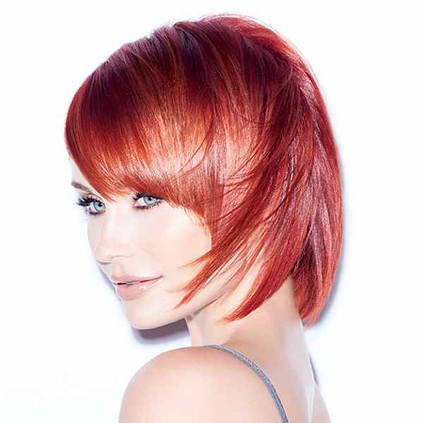 Joico @joico Rick Henry @rickhenrya Power Red Color Melt How To Get The Steps Fiery Red Redhead Color Melting Color Blocking Hybrid LumiShine Powerhouse Reds