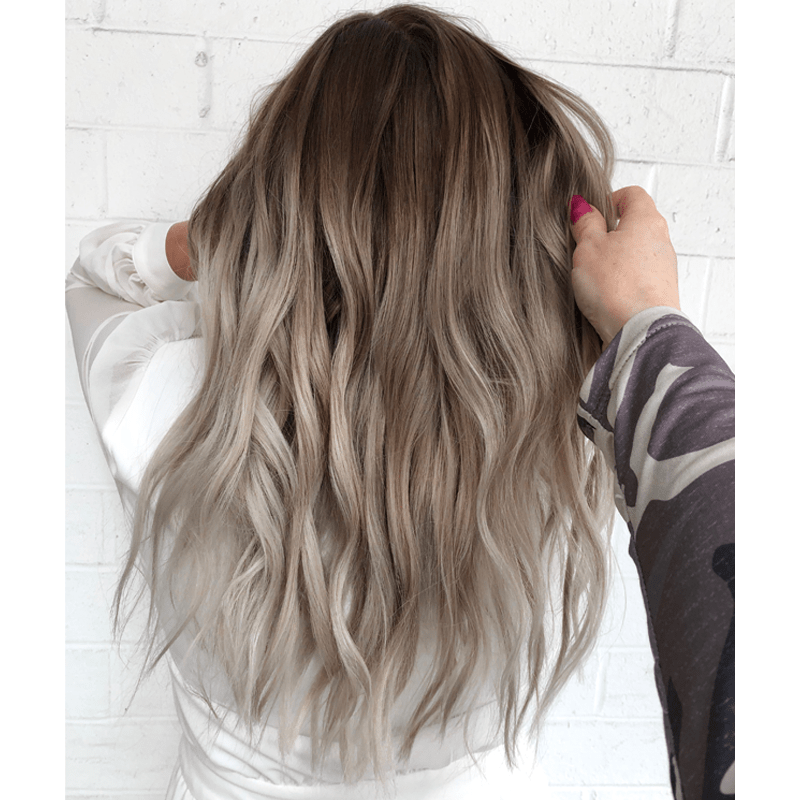 Cool Toned Balayage Transformation @camouflagageandbalayage Shadow Root Color Formulas
