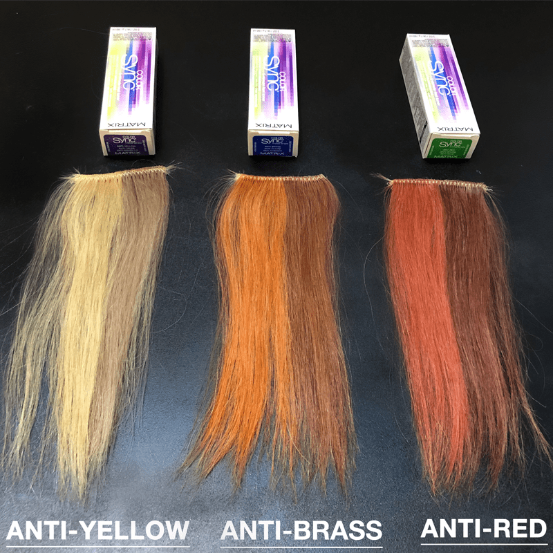 MATRIX 5 MINUTE FAST TONER COLOR SWATCHES PRE-TONING BEHIND THE CHAIR