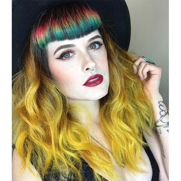 Kristina Cheeseman @kristinacheeseman 5 Tips For Making Rainbow Haircolor More Wearable Precise Application Prevent Color Transfer Bleeding Sectioning Placement Fade Out Touch Up