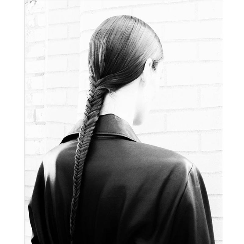 New York Fashion Week Hair Model Trend Braided Ponytails