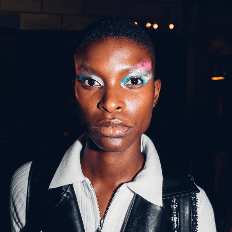 New York Fashion Week NYFW Makeup Trends Beauty Euphoria Makeup Eyeliner Glitter Neon Eye Inspiration