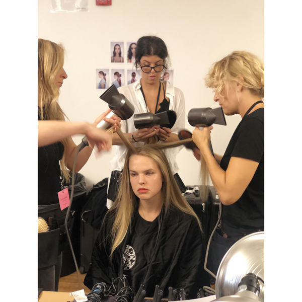 dyson supersonic professional hair dryer backstage at nyfw