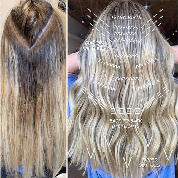 blonde, balayage, haircolor