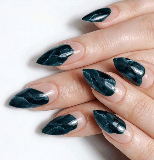 Crystal nail art by @buffcsjen using CND