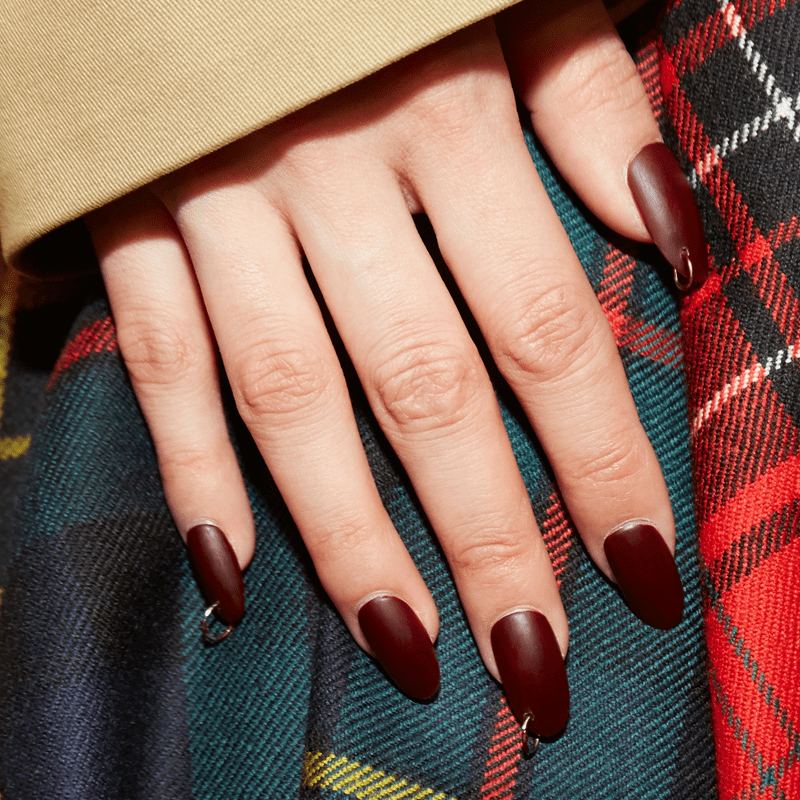 New York Fashion Week AW20 Nail Trends Manicures Nail Art Design Negative Space Cuticle Details
