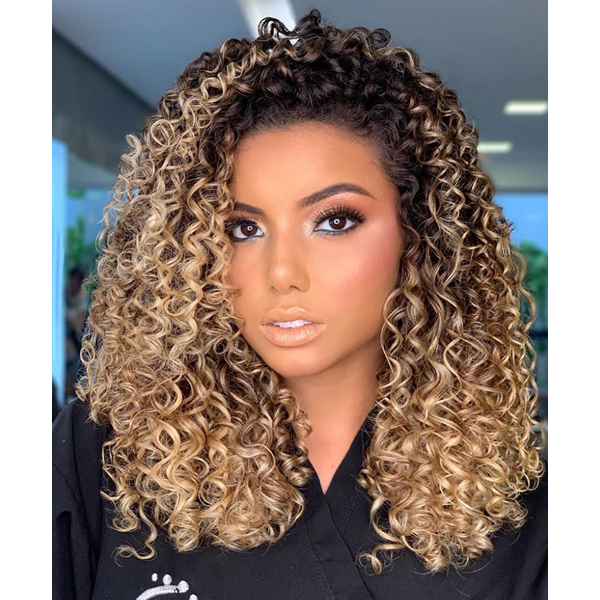 Natural Golden Blonde @nillvale_oficiall TRUSS Professional On Curly Hair How To Color Formula