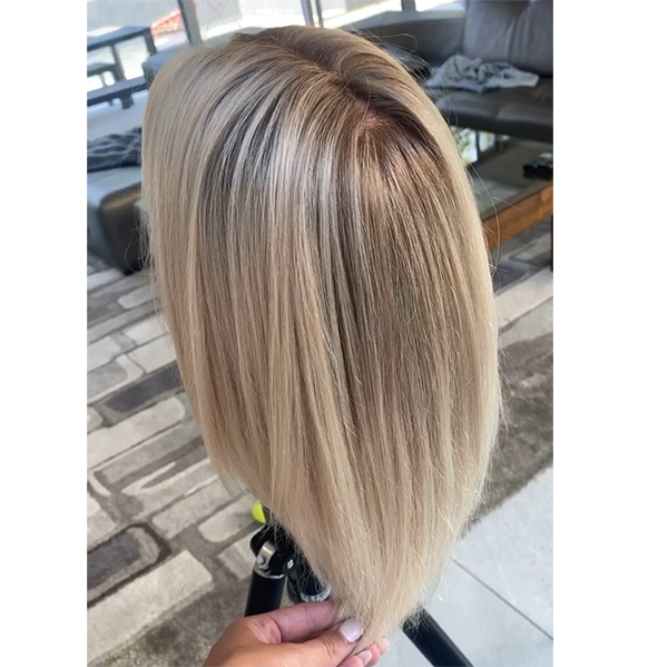 reverse balayage on blonde hair