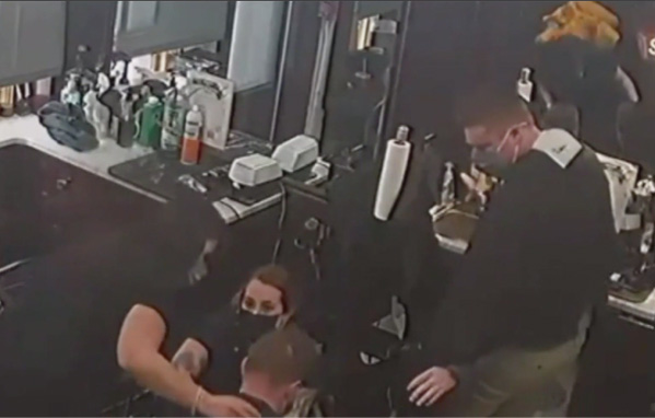 Barber Stabs Himself Freak Accident Boston With Scissors
