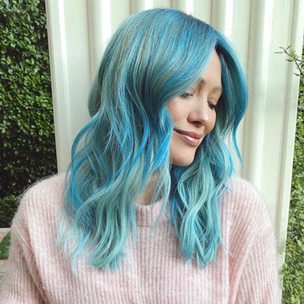 Hilary Duff Blue Hair Color Formulas and How To Nine Zero One Salon Nikki Lee Riawna Capri Joico
