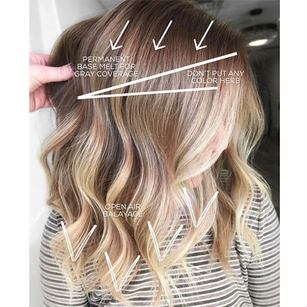 gray coverage base melt and balayage foils in one service hairbychrissydanielle blonding tips and tricks