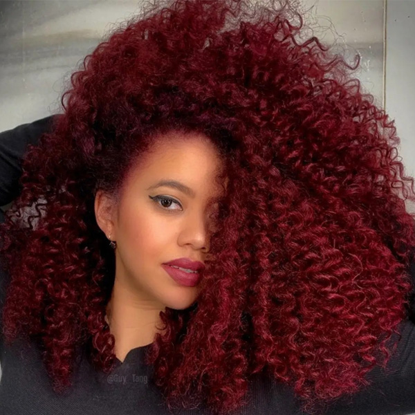 fall 2021 hair color trends burgundy wine red