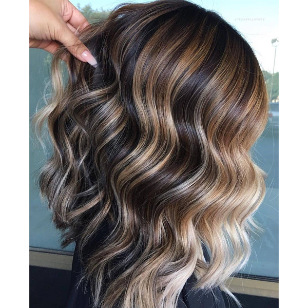 fall 2021 hair color trends coffee caramel toned hair dimensional brunette