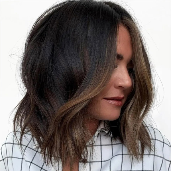 fall 2021 hair color trends coffee toned brunette hair