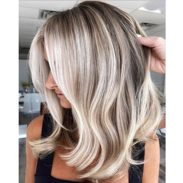 fall 2021 hair color trends bright blonde depth natural shadow root