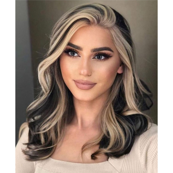 fall 2021 hair color trends color block money piece