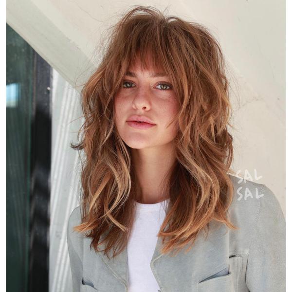 fall 2021 haircut layered shag haircut fringe
