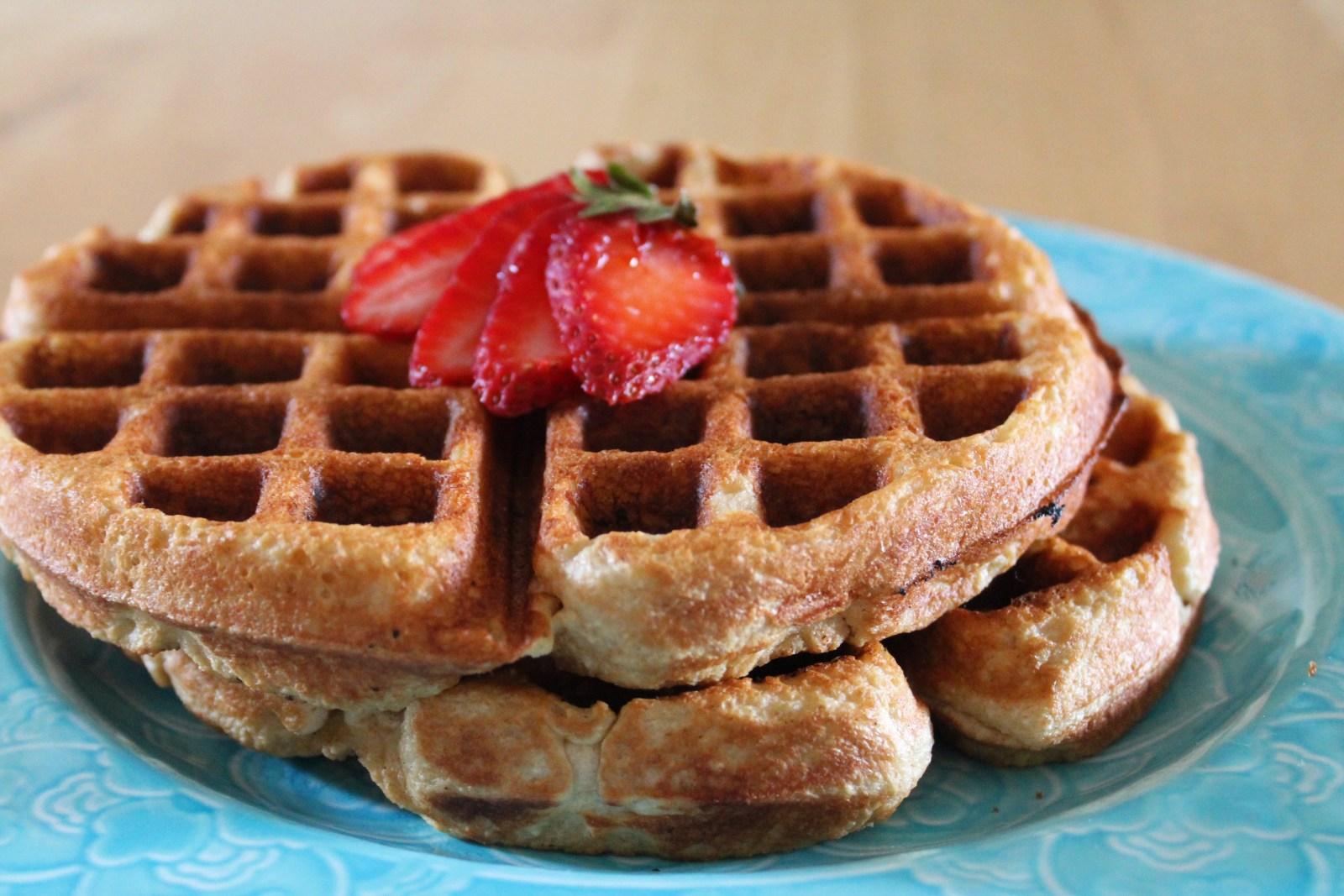 blender wheat waffles