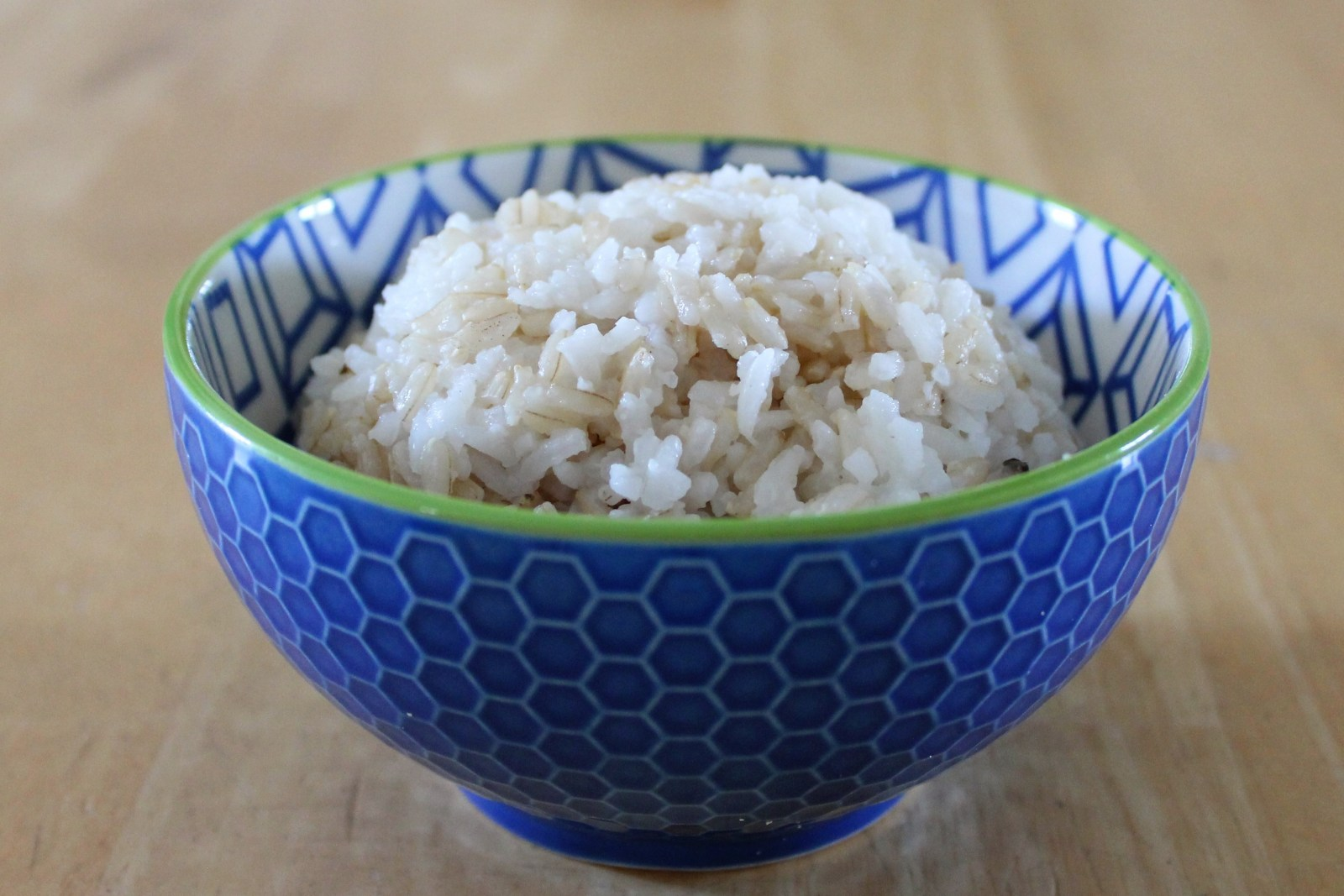 brown and white rice cooked together